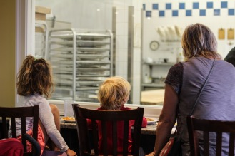 Great for viewing too! Grab a counter seat to watch the magic happen in the bakery.