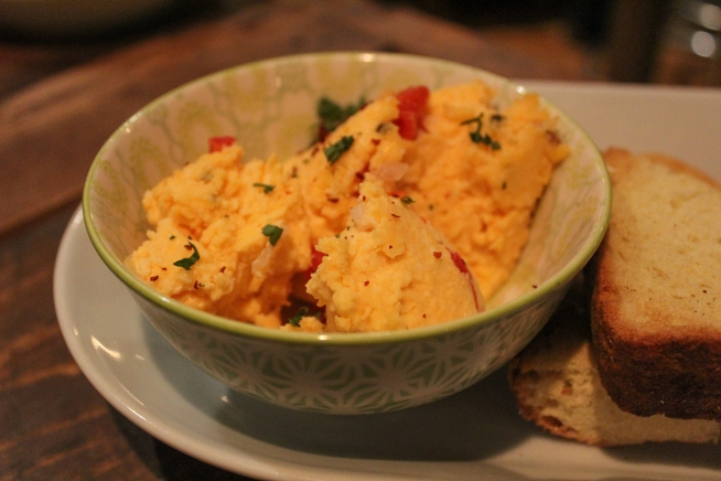 Some dippable items are worth it too, like this pimento cheese!