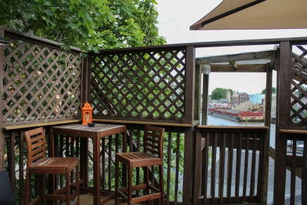 The upstairs outdoor patio is pretty nice!