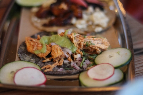 The tacos are small, but if come in handy for a warm up couple of bites, or if you're snacking and running.