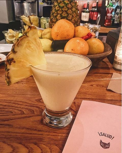 But even I'll mess with a milkshake-like frozen pina colada. Island vibes as fuck.